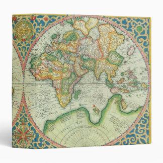 Antique Map Travel Portfolio 3 Ring Binder