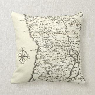 Antique Map Tribes of Israel Unique Vintage Pillows