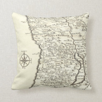 Antique Map Tribes of Israel Unique Vintage Pillows