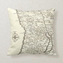 Antique Map Tribes of Israel Unique Vintage Throw Pillow