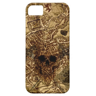 Antique Map with Skull iPhone SE/5/5s Case