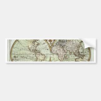 Antique Maps of the World Bumper Sticker