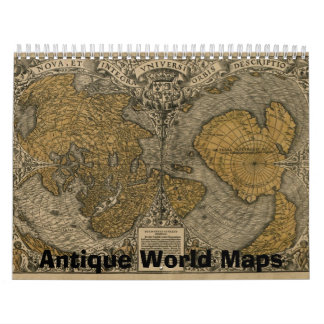 Antique Maps of The World Calendar