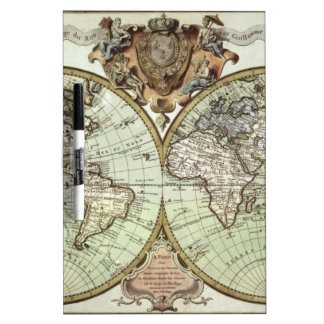 Antique Maps of the World Dry-Erase Board