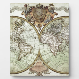Antique Maps of the World Photo Plaque