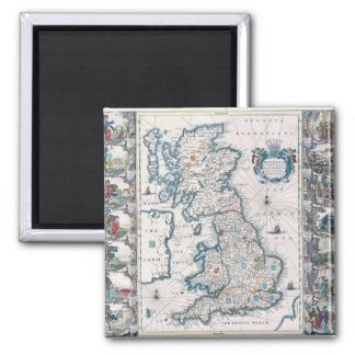 Antique Maps of the WorldMap of British IslesJoh Magnet