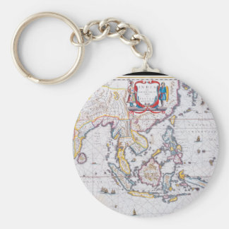 Antique Maps of the WorldMap of South East AsiaW 5 Keychain