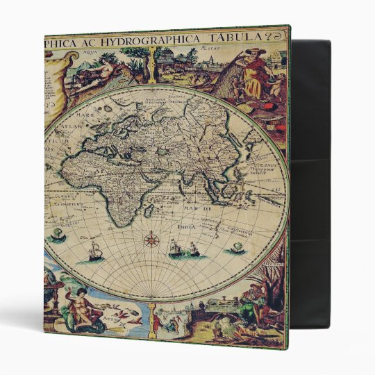 Antique Maps - Orbisgeographica, by GalleryGifts 3 Ring Binder