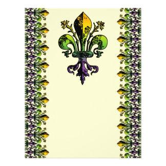 Antique Mardi Gras Fleur Personalized Flyer