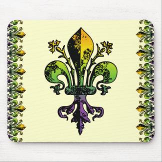 Antique Mardi Gras Fleur Mousepads