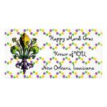 Antique Mardi Gras Fleur Photo Card