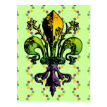 Antique Mardi Gras Fleur Post Cards