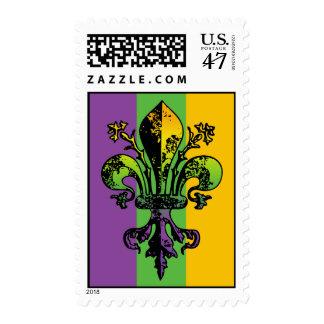 Antique Mardi Gras Fleur Stamp