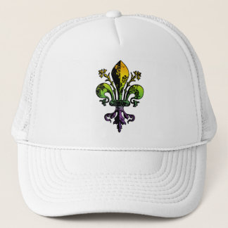 Antique Mardi Gras Fleur Trucker Hat