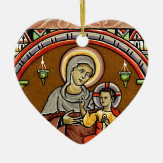 Antique Mary and Jesus Print Christmas Decoration