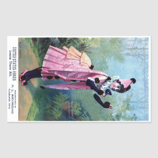 Antique Masquerade Girl Rectangular Sticker