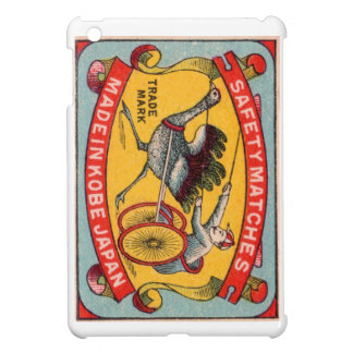 Antique Matchbox Label Ostrich Harness Racing Kobe iPad Mini Case