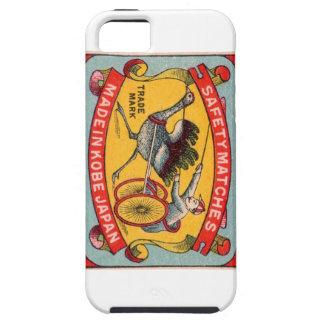 Antique Matchbox Label Ostrich Harness Racing Kobe iPhone SE/5/5s Case