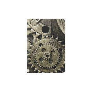 Antique Mechanical Gears Manly Passport Holder