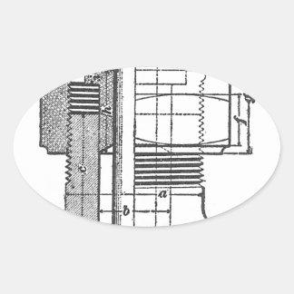 Antique Mechanical Tool Engineer Oval Sticker