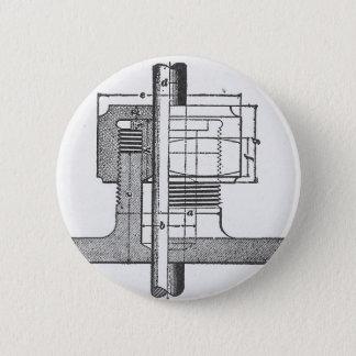 Antique Mechanical Tool Engineer Pinback Button