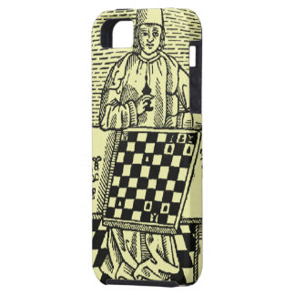 Antique Medieval Chess Woodcut iPhone SE/5/5s Case