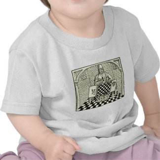 Antique Medieval Chess Woodcut Tee Shirts