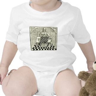 Antique Medieval Chess Woodcut T Shirts