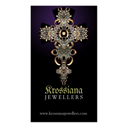 Black and Purple Gothic Antique Medieval Jewellery Business Cards