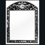 """Antique Memento Mori Skull Dry Erase Board<br><div class=""""desc"""">Antique Memento Mori Skull Dry Erase Board</div>"""