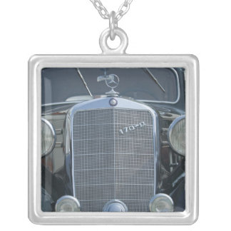 antique mercedes 2 silver plated necklace