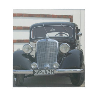 antique mercedes notepad
