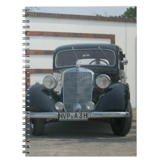 antique mercedes spiral notebook
