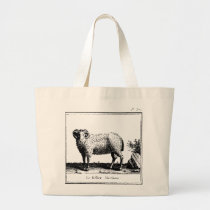 Antique Merino Sheep Tote Bag