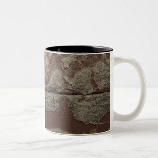 Antique Metal Lock on Stone Wall Two-Tone Coffee Mug