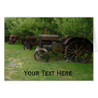 Antique Metal Wheel Tractors Card