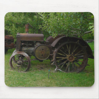 Antique Metal Wheel Tractors Mouse Pad