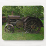 Antique Metal Wheel Tractors Mouse Pads