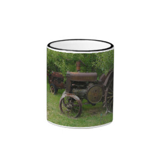 Antique Metal Wheel Tractors Ringer Coffee Mug