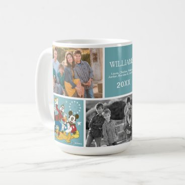 Disney Themed Antique Mickey and Friends | Family Photo and Text Coffee Mug