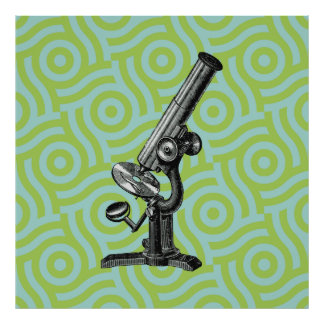 Antique Microscope Pop Art Poster