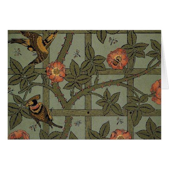 Antique Morris Trellis Wallpaper Card