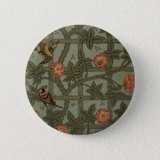 Antique Morris Trellis Wallpaper Pinback Button