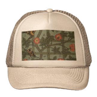 Antique Morris Trellis Wallpaper Trucker Hat