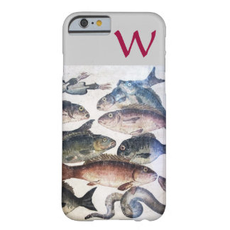 ANTIQUE MOSAIC FISHES,OCEAN SEA LIFE MONOGRAM BARELY THERE iPhone 6 CASE
