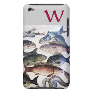 ANTIQUE MOSAIC FISHES,OCEAN SEA LIFE MONOGRAM BARELY THERE iPod COVER