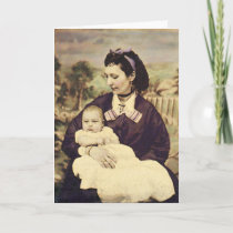 Antique Mother and Child Photo Card
