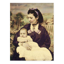 Antique Mother and Child Photo Postcard