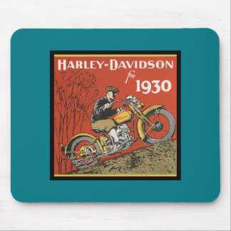 ANTIQUE MOTORCYCLE POSTER MOUSE PAD
