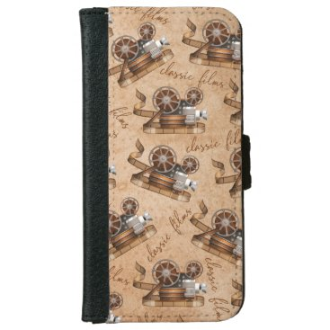 Antique Movie Camera Old Classic Films iPhone 6/6s Wallet Case